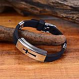 Стильный модный браслет с распятием на ремешке 16119, фото 2