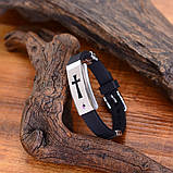 Стильный модный браслет с распятием на ремешке 16119, фото 4