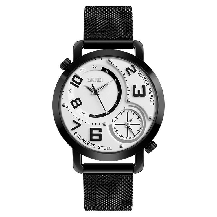 Skmei  9168 moon черные с белым циферблатом  наручные часы