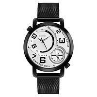 Skmei  9168 moon черные с белым циферблатом  наручные часы, фото 1