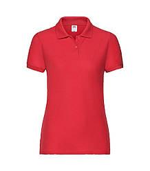 Женская футболка поло красная 212-40