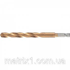 Свердло по металу, 9 мм, HSS, нитридтитановое покриття, 6-гранний хвостовик/ MTX