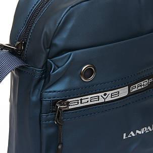 Мужская сумка через плече Lanpad 20 x 25 x 10 см Синий (4062/2), фото 2