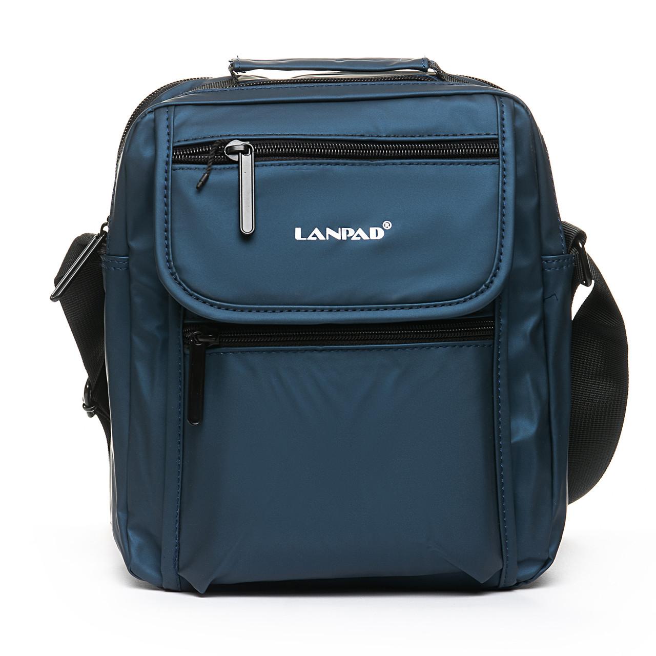 Мужская сумка через плече Lanpad 21 x 27 x 10 см Синий (0675/2)