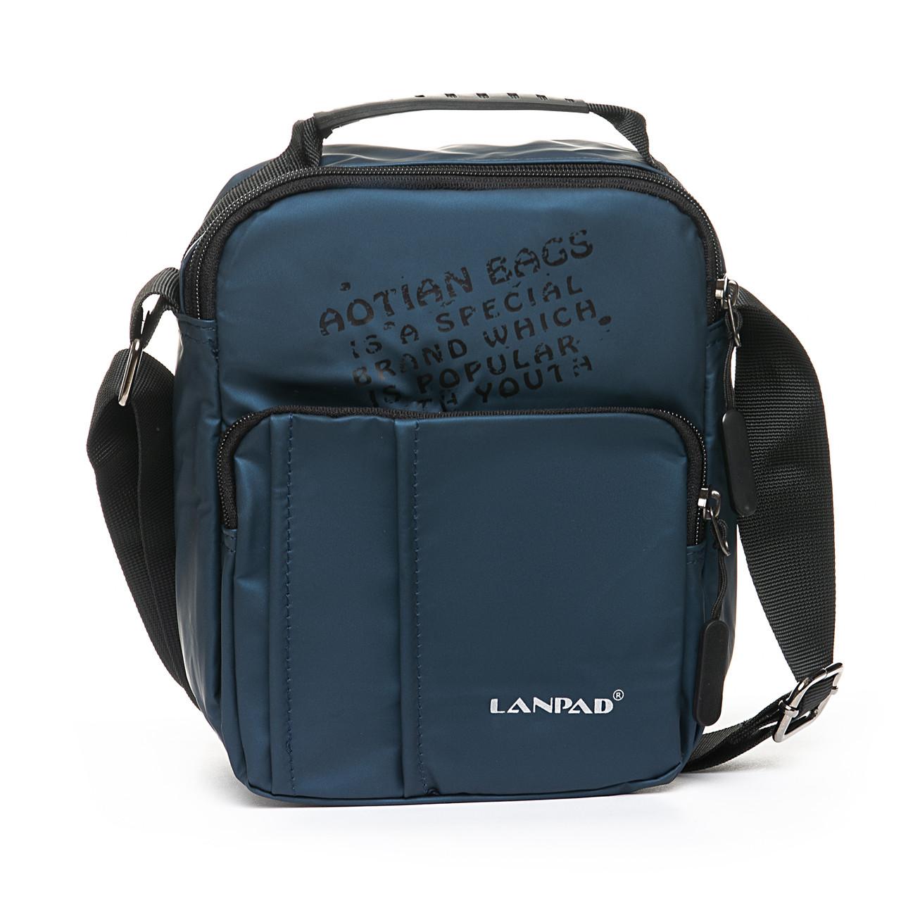 Мужская сумка через плече Lanpad 17 x 23 x 10 см Синий (6285/2)