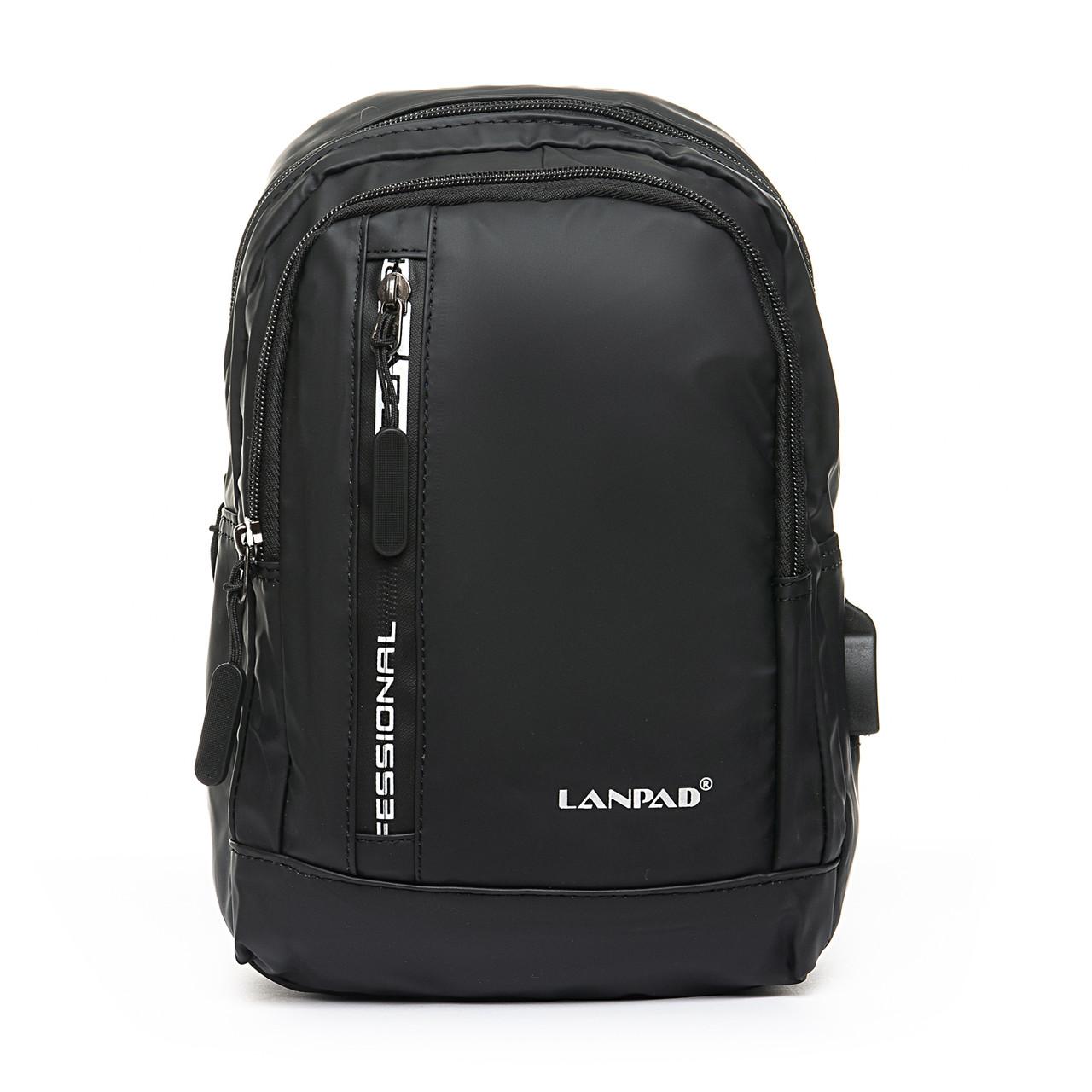Мужская сумка через плече Lanpad 18 x 28 x 10 см Черный (8329/1)