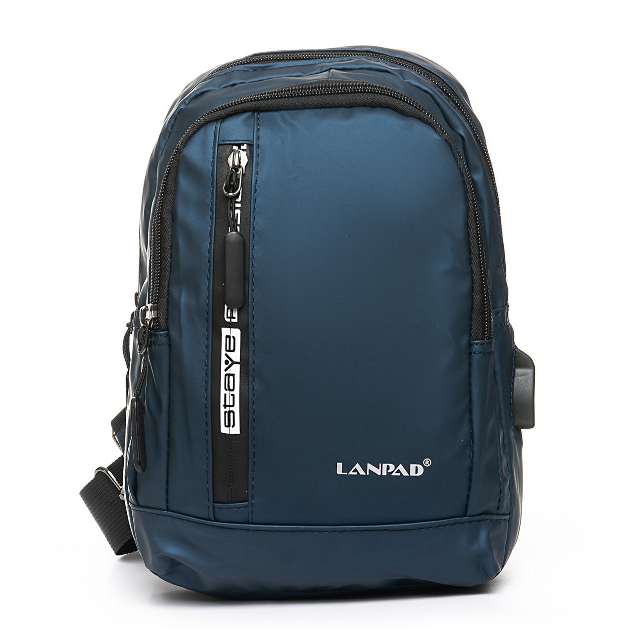 Мужская сумка через плече Lanpad 18 x 28 x 10 см Синий (8329/2)
