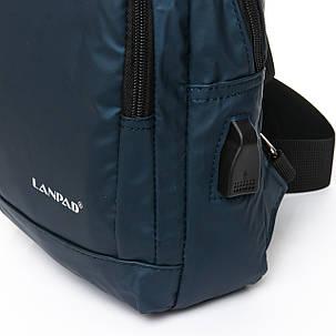 Мужская сумка через плече Lanpad 18 x 28 x 10 см Синий (8329/2), фото 2