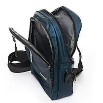 Мужская сумка через плече Lanpad 18 x 28 x 10 см Синий (8329/2), фото 3