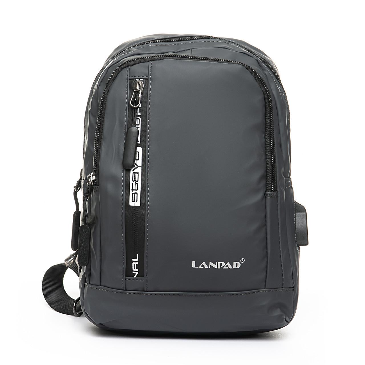 Мужская сумка через плече Lanpad 18 x 28 x 10 см Серый (8329/3)