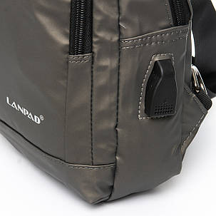 Мужская сумка через плече Lanpad 18 x 28 x 10 см Золотой (8329/4), фото 2