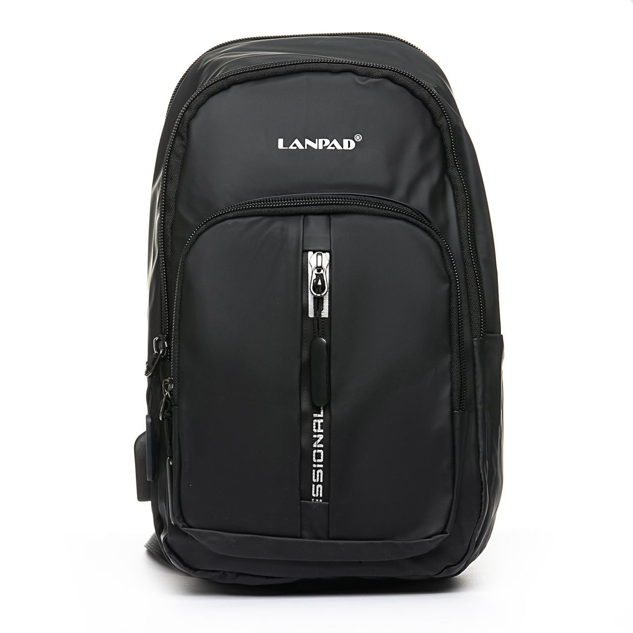 Мужская сумка через плече Lanpad 18 x 32 x 13 см Черный (4070/1)
