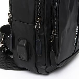 Мужская сумка через плече Lanpad 18 x 32 x 13 см Черный (4070/1), фото 2