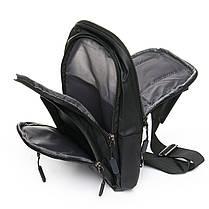 Мужская сумка через плече Lanpad 18 x 32 x 13 см Черный (4070/1), фото 3