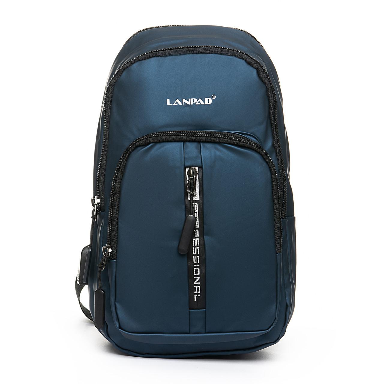 Мужская сумка через плече Lanpad 18 x 32 x 13 см Синий (4070/2)