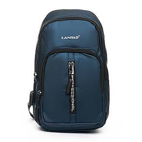 Мужская сумка через плече Lanpad 18 x 32 x 13 см Синий (4070/2), фото 2