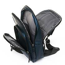 Мужская сумка через плече Lanpad 18 x 32 x 13 см Синий (4070/2), фото 3