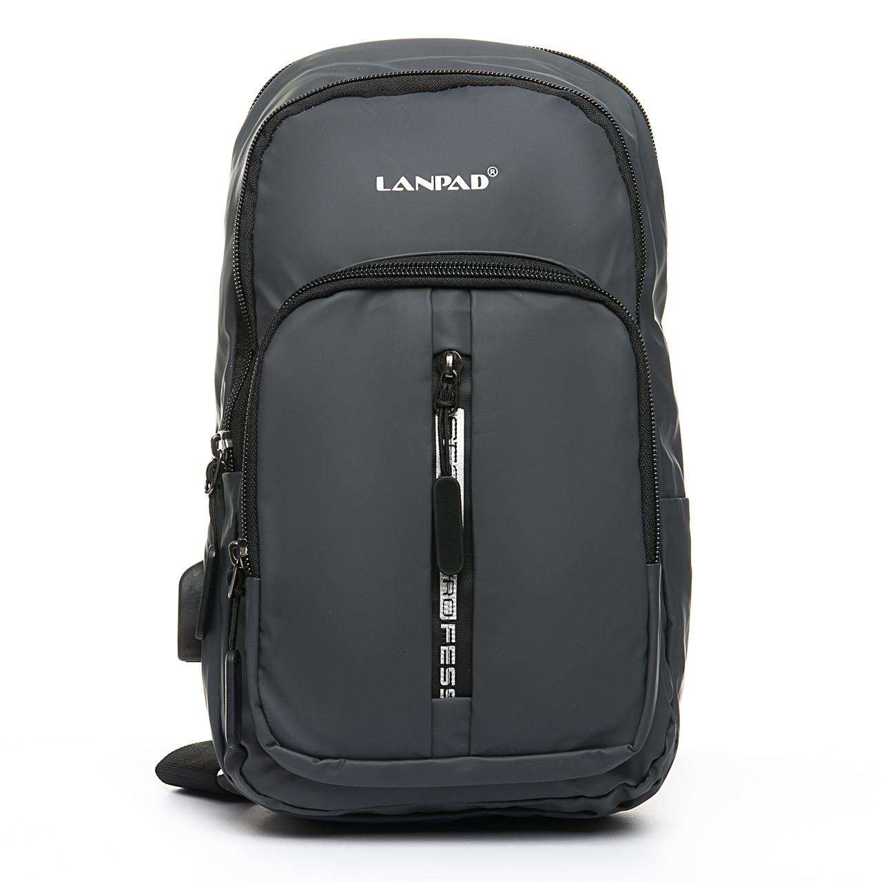 Мужская сумка через плече Lanpad 18 x 32 x 13 см Серый (4070/3)
