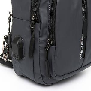 Мужская сумка через плече Lanpad 18 x 32 x 13 см Серый (4070/3), фото 2