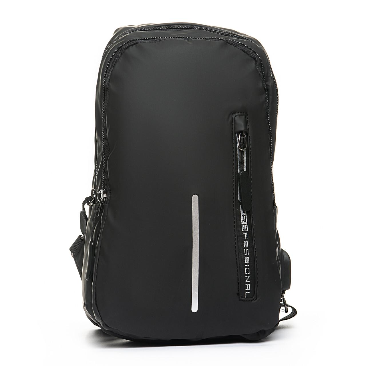 Мужская сумка через плече Lanpad 18 x 30 x 10 см Черный (6281/1)