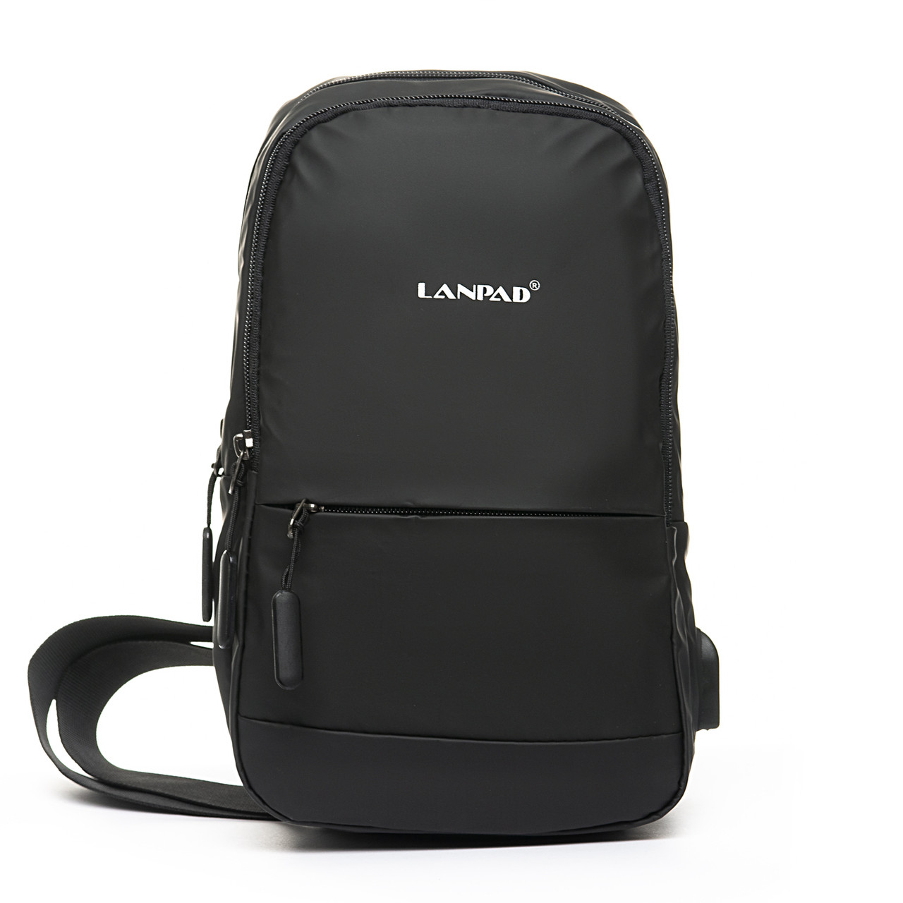 Мужская сумка через плече Lanpad 18 x 30 x 10 см Черный (4066/1)