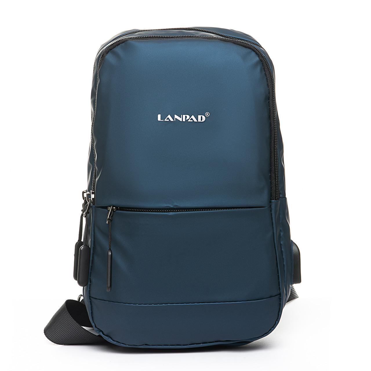 Мужская сумка через плече Lanpad 18 x 30 x 10 см Синий (4066/2)