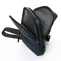 Мужская сумка через плече Lanpad 18 x 30 x 10 см Синий (4066/2), фото 3