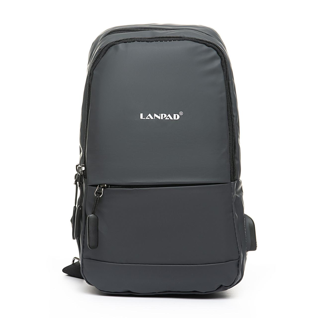 Мужская сумка через плече Lanpad 18 x 30 x 10 см Серый (4066/3)