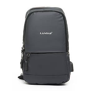 Мужская сумка через плече Lanpad 18 x 30 x 10 см Серый (4066/3), фото 2