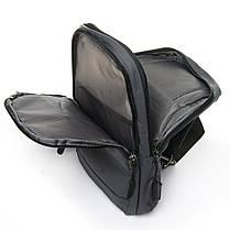 Мужская сумка через плече Lanpad 18 x 30 x 10 см Серый (4066/3), фото 3