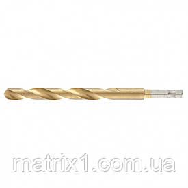 Свердло по металу, 8,5 мм, HSS, нитридтитановое покриття, 6-гранний хвостовик/ MTX