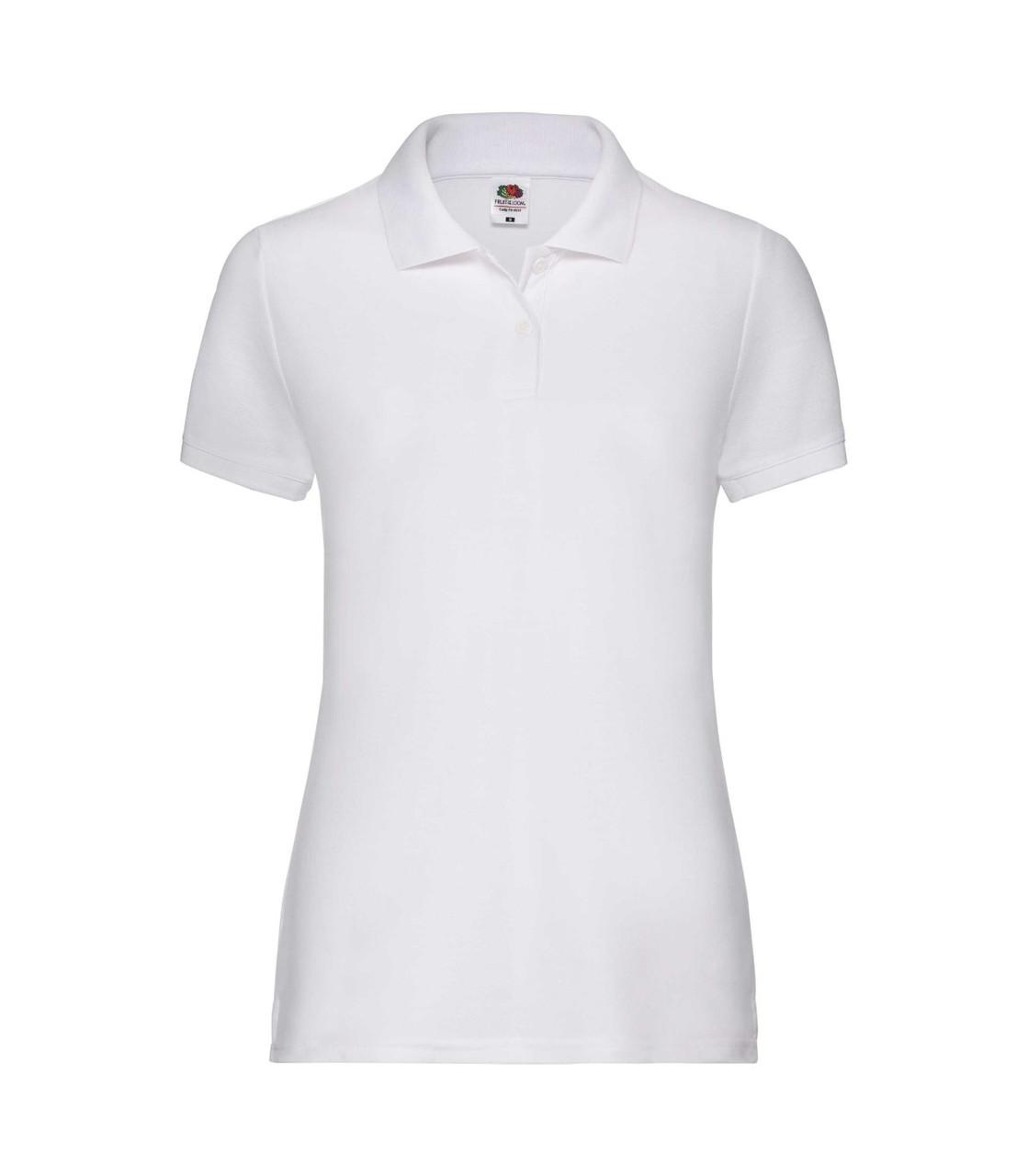 Женская футболка поло белая 212-30