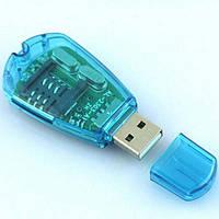 SIM + microSD ридер считываель reader writer copy backup GSM CDMA   Многофункциональный SIM card reader с пере