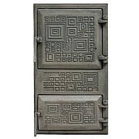 """Дверца чугунная спарка (М) (75-К) """"Модерн"""" 270х490 210х440"""