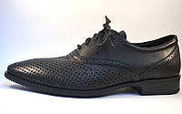 Rosso Avangard BS Felicite Black Perf летние кожаные туфли в сеточку обувь большая мужская 50 размер, фото 1