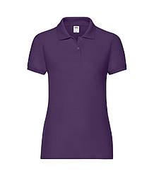 Женская футболка поло фиолетовая 212-РЕ