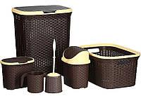 Набор корзин и контейнеров для белья 6 элементов