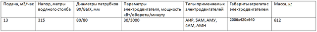 насос ЦНСГМ13-315