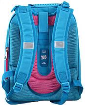 Голубой каркасный ранец 1 вересня для девочки 38*29*15, фото 2
