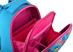 Голубой каркасный ранец 1 вересня для девочки 38*29*15, фото 3