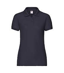 Женская футболка поло темно-синяя 212-AZ