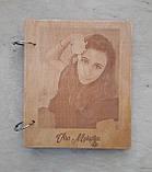 Дерев'яна яний фотоальбом з портретом, фото 3