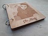 Дерев'яна яний фотоальбом з портретом, фото 6