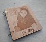 Дерев'яна яний фотоальбом з портретом, фото 2