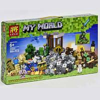 """Конструктор Lele My World (LEGO Minecraft) """"Падение башни"""" 800 деталей, 33231"""