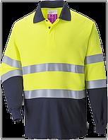 Огнестойкая антистатическая двухцветная рубашка поло