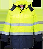 Светоотражающая куртка с защитой от электрической дуги Bizflame Multi Arc FR79
