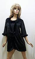 Велюровый халат и рубашка с пухом 410, фото 1