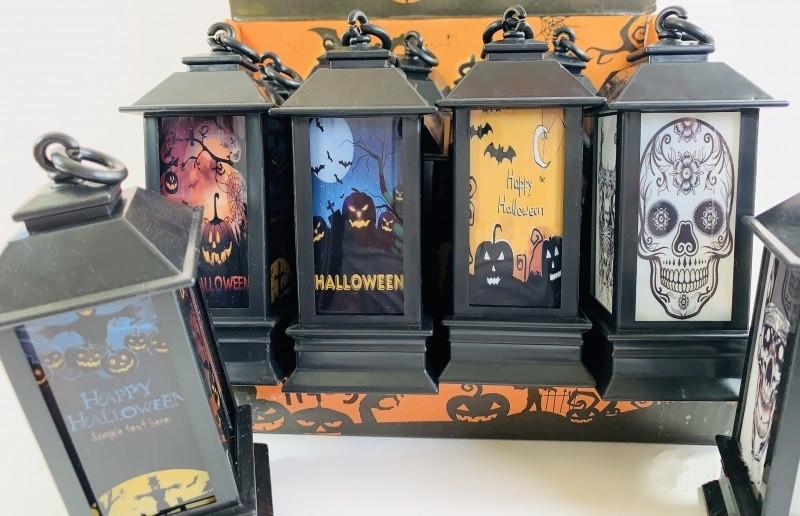 Набор фонарей для Хэллоуина 12 штук 10 см