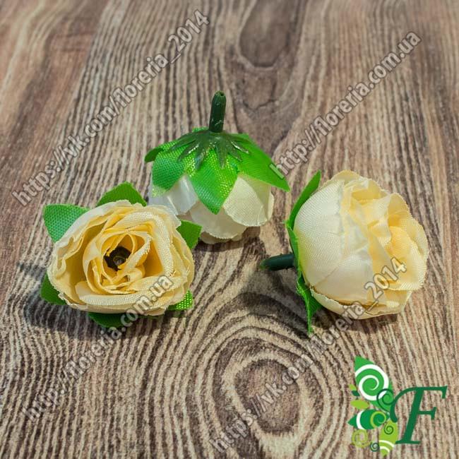 Головка розы D3 экрю за 5 штук